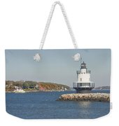 Spring Point Ledge Lighthouse On The Maine Coast Weekender Tote Bag