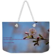 Spring Quote Weekender Tote Bag