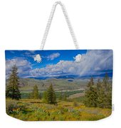 Spring Rain Across A Valley Weekender Tote Bag