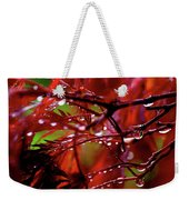 Spring Rain Weekender Tote Bag by Rona Black
