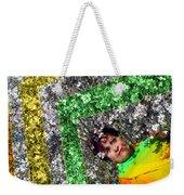 Spring Rainbow And Girl Weekender Tote Bag