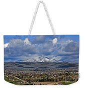 Spring Snow On Squaw Butte Weekender Tote Bag
