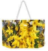 Spring - Sprig Of Forsythia Weekender Tote Bag