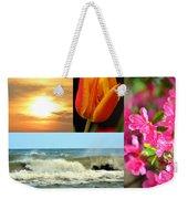 Spring Summer Collage Weekender Tote Bag