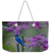 Spring Time Blue Bird Weekender Tote Bag