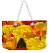Spring Tulips Art Prints Yellow Red Tulip Flowers Weekender Tote Bag