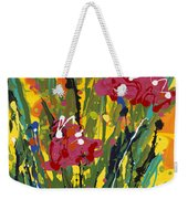 Spring Tulips Triptych Panel 3 Weekender Tote Bag