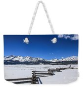 Spring View Of The Sawtooth Mountains Weekender Tote Bag