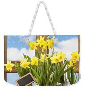 Spring Window Weekender Tote Bag by Amanda Elwell