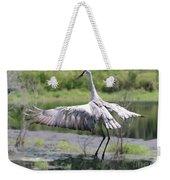 Springing Sandhill Crane Weekender Tote Bag