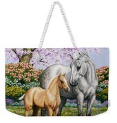 Spring's Gift - Mare And Foal Weekender Tote Bag