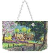 Springtime Cottage Weekender Tote Bag