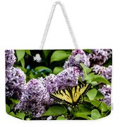 Springtime Lilac And Butterfly Weekender Tote Bag