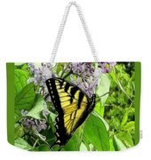 Springtime Moments- The Butterfly And The Lilac  Weekender Tote Bag