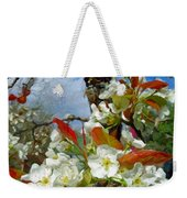 Springtime Pear Blossoms - Hello Spring Weekender Tote Bag