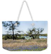 Springtime Texas Bluebonnets Naturalized Weekender Tote Bag