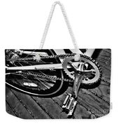 Sprocket And Chain - Black And White Weekender Tote Bag