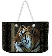 Sq Tiger Profile 6k X 6k Bboo Matt Weekender Tote Bag