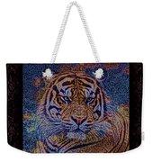 Sq Tiger Sat 6k X 6k Cranberry Wd2 Weekender Tote Bag
