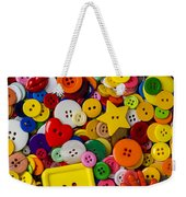 Square Button Weekender Tote Bag by Garry Gay