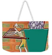 Square Wheels Make Life More Difficult  Weekender Tote Bag