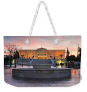 Square With A Fountain Weekender Tote Bag