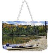 Squareback Canoe With Engine Weekender Tote Bag