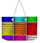 Squared Color Wall  Weekender Tote Bag by Semmick Photo