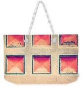 Squares In Wall Weekender Tote Bag