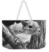 Squirrel Black And White Weekender Tote Bag
