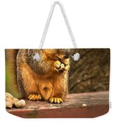 Squirrel Eating A Peanut Weekender Tote Bag