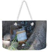 Squirrel Eating Weekender Tote Bag