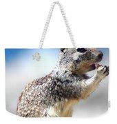 Squirrel Enjoying Lunch On The Beach Weekender Tote Bag