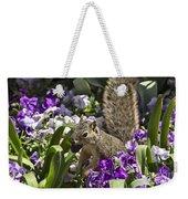Squirrel In The Botanic Garden-dallas Arboretum V2 Weekender Tote Bag