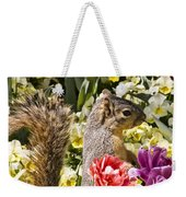 Squirrel In The Botanic Garden-dallas Arboretum V4 Weekender Tote Bag