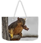 Squirrel Lunch Time Weekender Tote Bag by Robert Bales