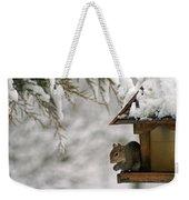 Squirrel On The Bird Feeder Weekender Tote Bag