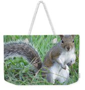 Squirrel On The Grass Weekender Tote Bag