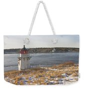Squirrel Point Lighthouse Kennebec River Maine Weekender Tote Bag by Keith Webber Jr