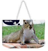 Squirrely Push Ups Weekender Tote Bag