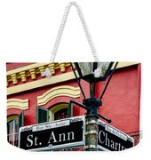 St. Ann And Chartres Nola  Weekender Tote Bag