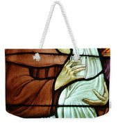 St Anthony In Stained Glass Weekender Tote Bag