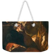 St. Benedict And A Hermit Weekender Tote Bag