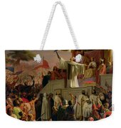 St Bernard Preaching The Second Crusade In Vezelay Weekender Tote Bag