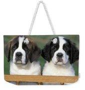St. Bernard Puppies Weekender Tote Bag