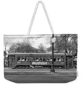 St. Charles Ave. Streetcar Monochrome Weekender Tote Bag