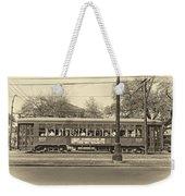 St. Charles Ave. Streetcar Sepia Weekender Tote Bag