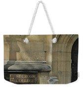 St. Cross College Weekender Tote Bag