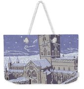 St David S Cathedral In The Snow Weekender Tote Bag by Huw S Parsons