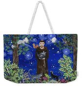 St. Francis And Spike Weekender Tote Bag